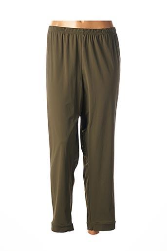Pantalon 7/8 vert FRANCK ANNA pour femme