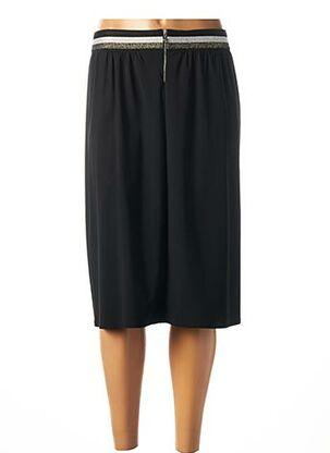 Jupe mi-longue noir FRANCK ANNA pour femme