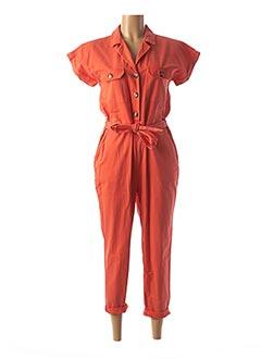 Combi-pantalon orange CIMINY pour femme