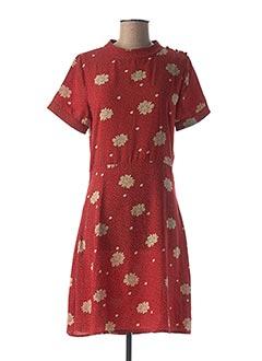 Robe mi-longue rouge SWEEWË pour femme