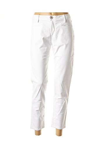 Pantalon 7/8 blanc DENIM STUDIO pour femme
