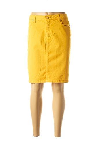 Jupe mi-longue jaune ANAKE pour femme