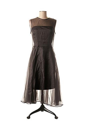 Robe mi-longue noir ETXART&PANNO pour femme