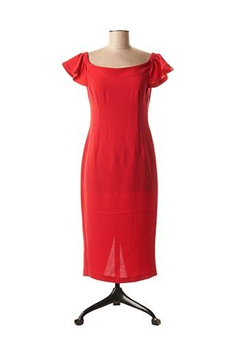 Robe mi-longue rouge ETXART&PANNO pour femme