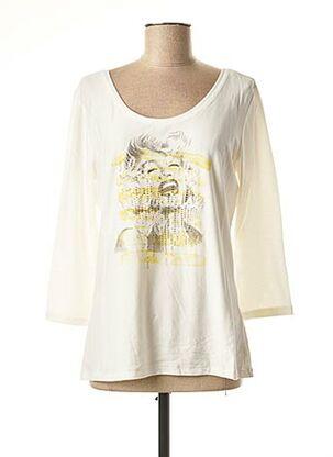 T-shirt manches longues blanc AIRFIELD pour femme