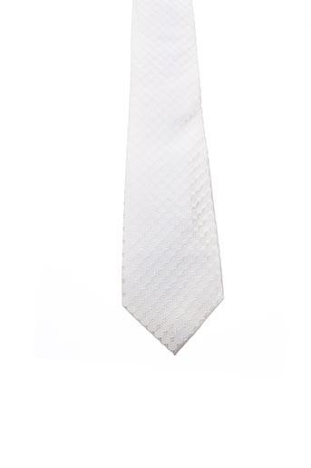 Cravate blanc JEAN DE SEY pour homme