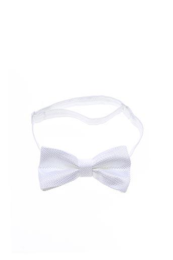 Noeud papillon blanc JEAN DE SEY pour homme