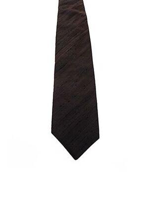 Cravate marron JEAN DE SEY pour homme