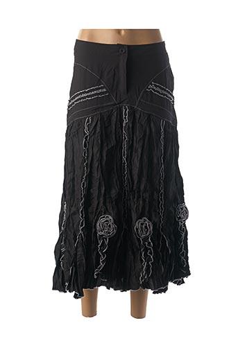 Jupe longue noir FRANSTYLE pour femme