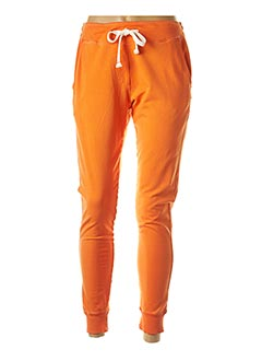 Jogging orange FRENCH TERRY pour femme