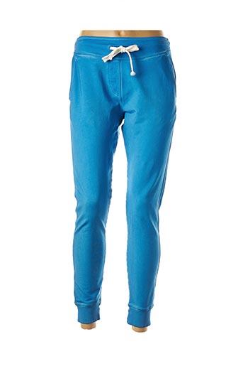 Jogging bleu FRENCH TERRY pour femme