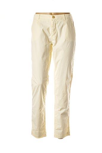Pantalon casual blanc REIKO pour femme