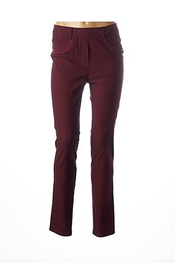 Pantalon casual rouge DIANE LAURY pour femme