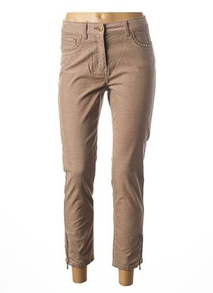 Pantalon casual beige JULIE GUERLANDE pour femme