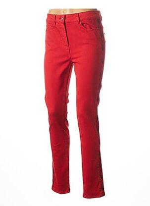 Pantalon casual rouge JULIE GUERLANDE pour femme