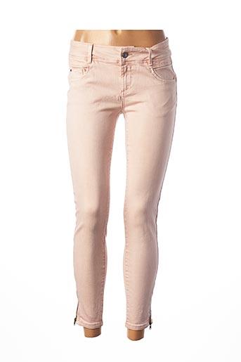 Jeans skinny rose C'EST BEAU LA VIE pour femme