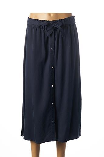 Jupe mi-longue bleu C'EST BEAU LA VIE pour femme