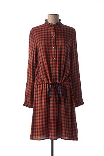 Robe mi-longue orange C'EST BEAU LA VIE pour femme