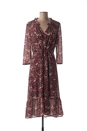 Robe mi-longue violet JULIE GUERLANDE pour femme