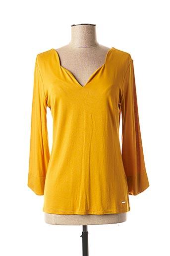 T-shirt manches longues jaune JULIE GUERLANDE pour femme