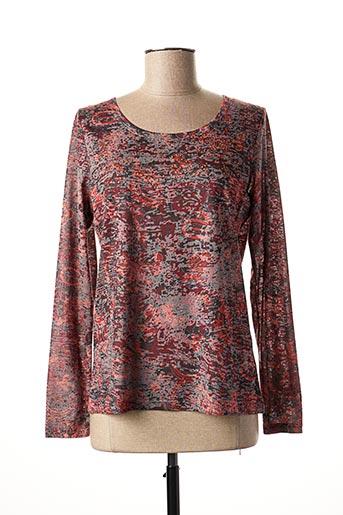 T-shirt manches longues rouge DIANE LAURY pour femme