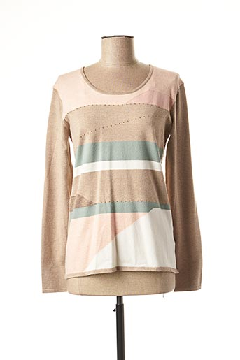 Pull col rond beige DIANE LAURY pour femme