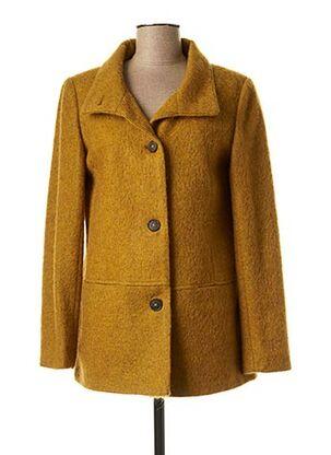 Manteau court jaune DIANE LAURY pour femme