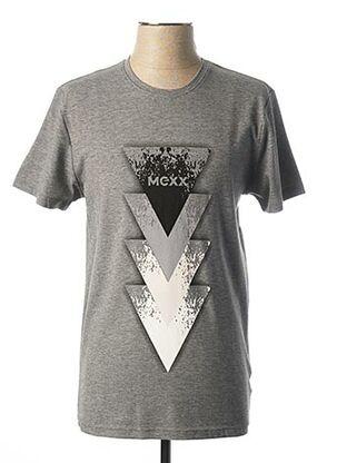 T-shirt manches courtes gris MEXX pour homme