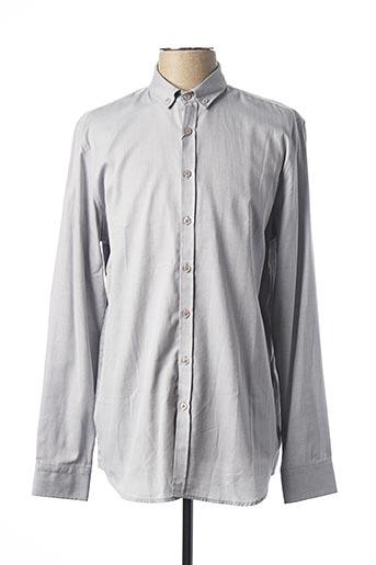 Chemise manches longues gris MEXX pour homme