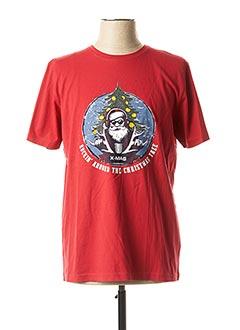 T-shirt manches courtes rouge MARVELIS pour homme