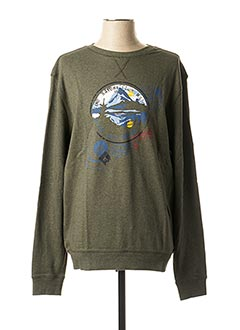 Sweat-shirt vert MARVELIS pour homme