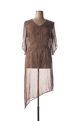 Robe longue marron MARINA RINALDI pour femme
