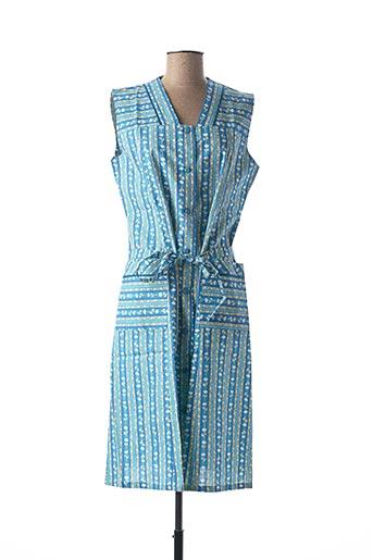 Robe mi-longue bleu GIULIANO CICCHINE pour femme