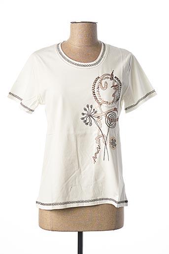 T-shirt manches courtes beige FRANCE RIVOIRE pour femme