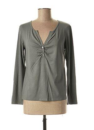 T-shirt manches longues vert MERI & ESCA pour femme