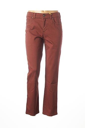 Jeans coupe slim marron ANNA MONTANA pour femme