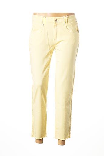 Pantalon 7/8 jaune ANNA MONTANA pour femme