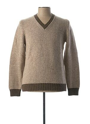 Pull col V gris GRAN SASSO pour homme