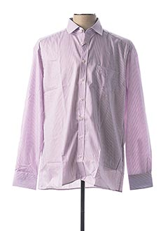 Chemise manches longues rose JUPITER pour homme