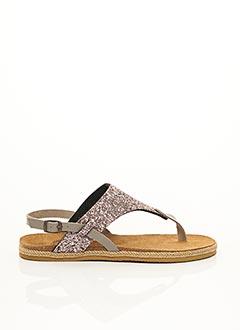 Sandales/Nu pieds rose AYOKA pour femme