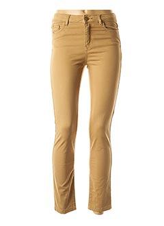 Pantalon casual beige 1 2 3 pour femme