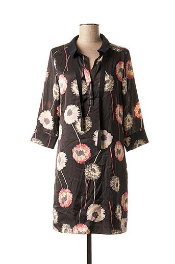 Robe mi-longue noir MAISON 123 pour femme