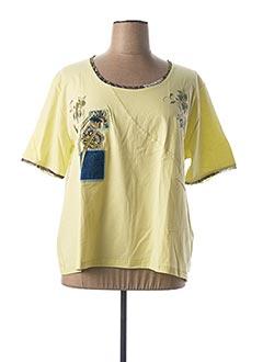 T-shirt manches courtes vert GRIFFON pour femme