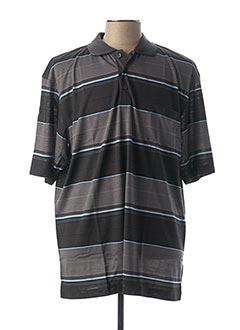 Polo manches courtes noir GS CLUB pour homme