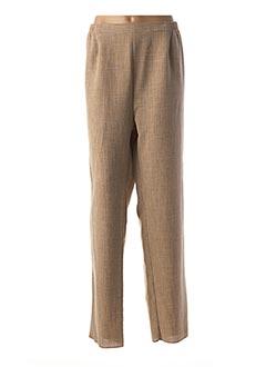 Pantalon chic beige GEVANA pour femme