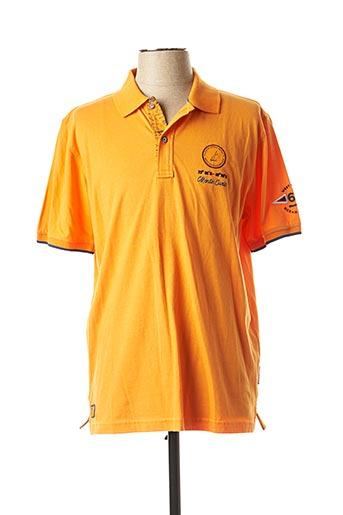 Polo sans manche orange MONTE CARLO pour homme