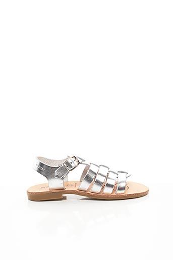 Sandales/Nu pieds gris GEOX pour fille