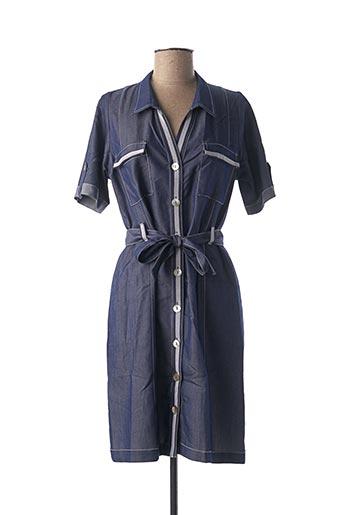 Robe mi-longue bleu CHATELET pour femme