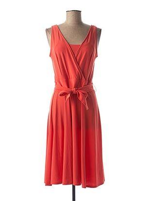Robe mi-longue orange CHATELET pour femme