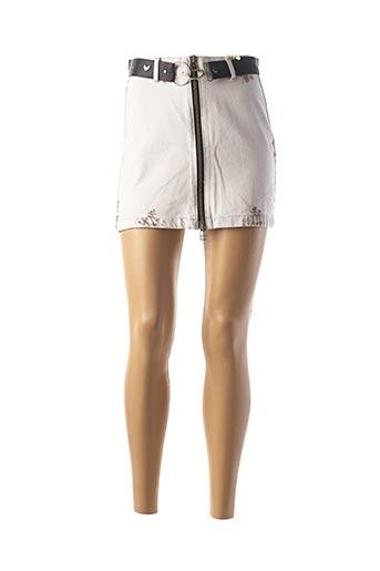 Jupe courte gris BSB pour femme